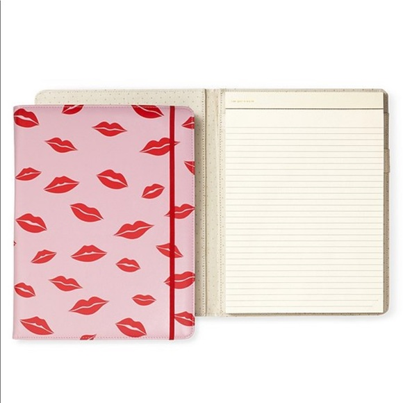 kate spade Other - 🆕 kate spade ♠️ Lips Notepad Folio